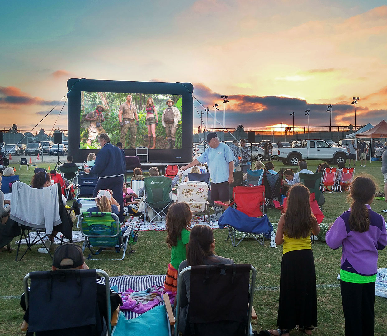 movie nights under the stars Clairemont CHamber