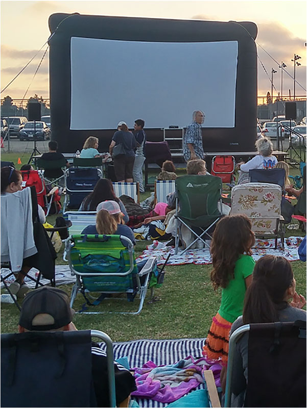 Clairemont drive in movie nights